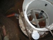 Копка септика из бетонных колец